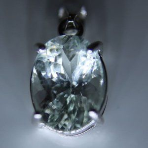Jewelry - Aquamarine 2.15ct White Gold Solid Silver Pendant